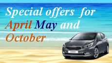 special offers from Rent a car Rhodes Autotour